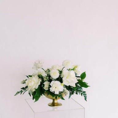 Emerald Green and Cream DIY Wedding Centerpiece Flower Moxie