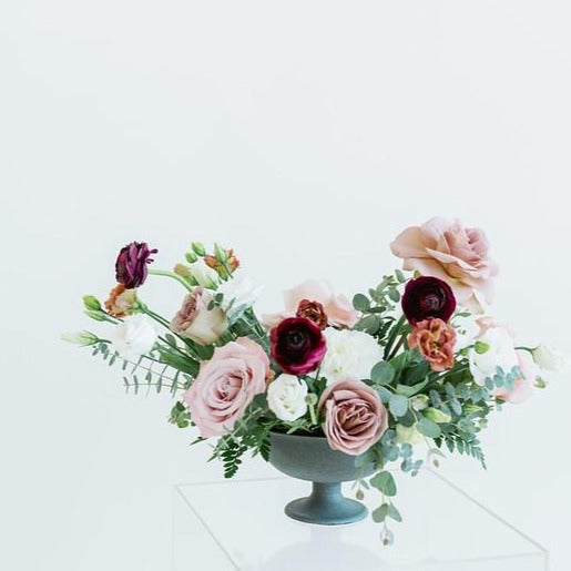 Mauve and Plum Centerpiece DIY Wedding Flowers by Flower Moxie