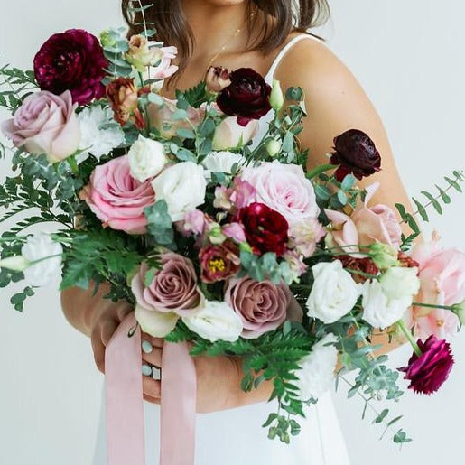 Mauve and Plum DIY Wedding Bouquet by Flower Moxie