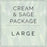 Cream and Sage- Large Package