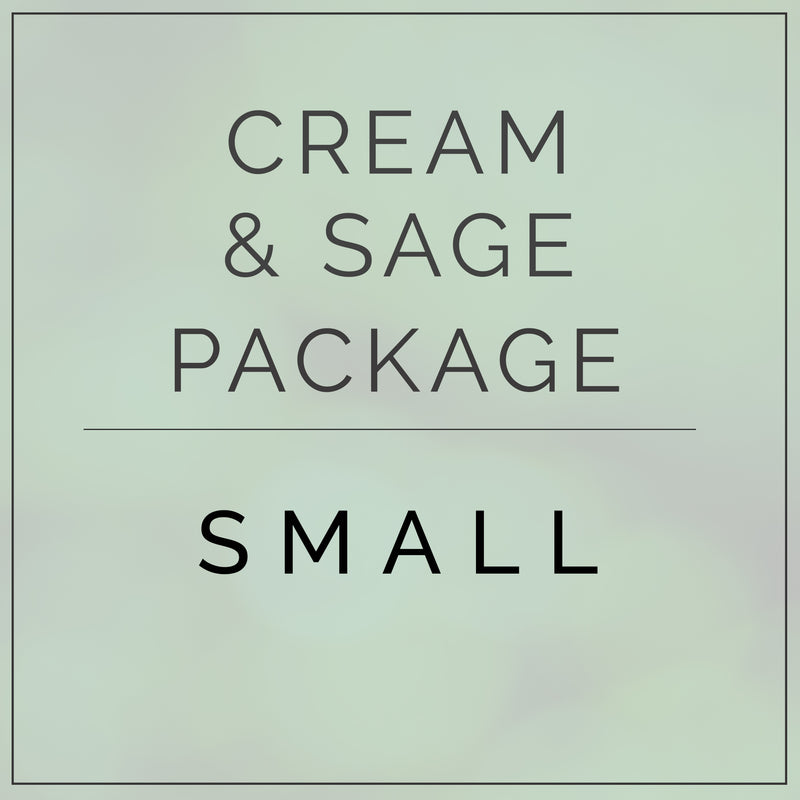 Cream and Sage- Small Package