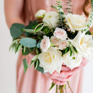 Cream and Sage DIY Bridesmaid Bouquet by Flower Moxie