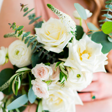 Cream and Sage DIY Wedding Bouquet Flower Moxie