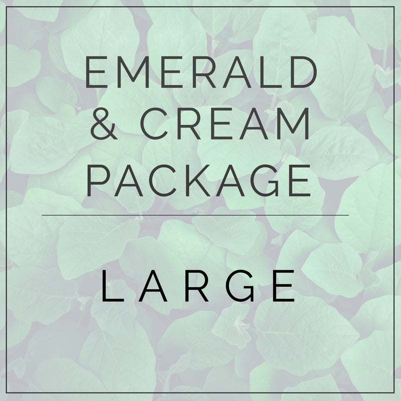 Emerald Green and Cream- Large Package