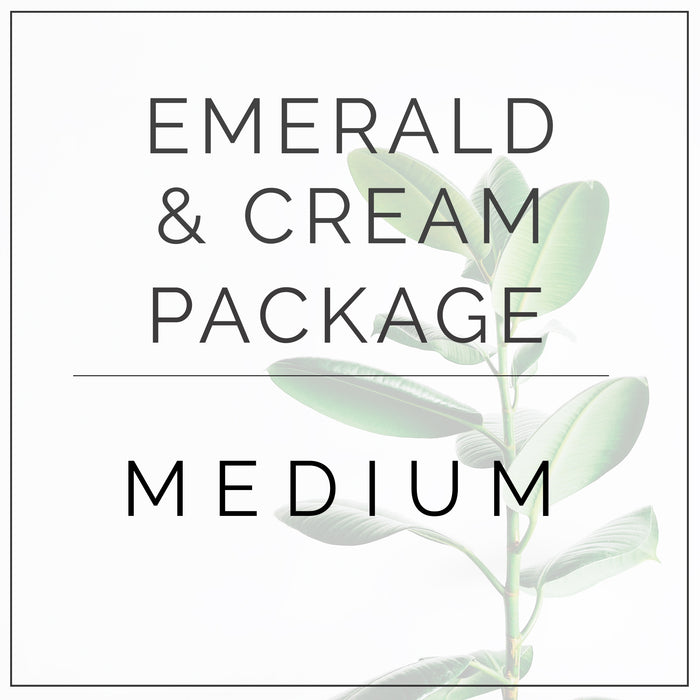 Emerald Green and Cream- Medium Package