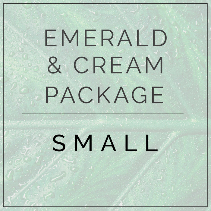Emerald Green and Cream- Small Package