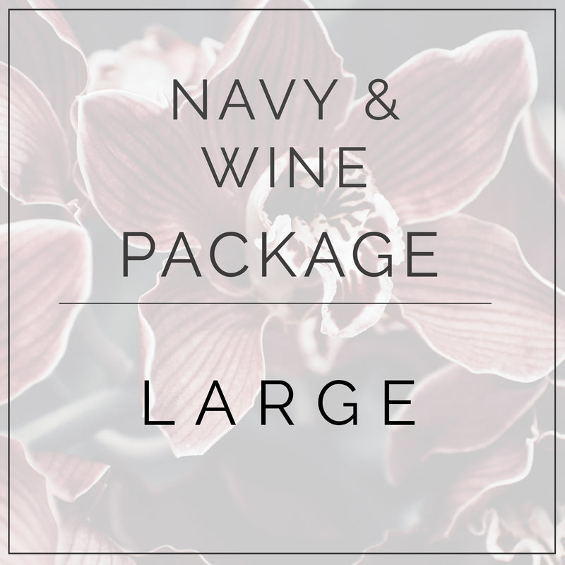 Navy and Wine - Large Package