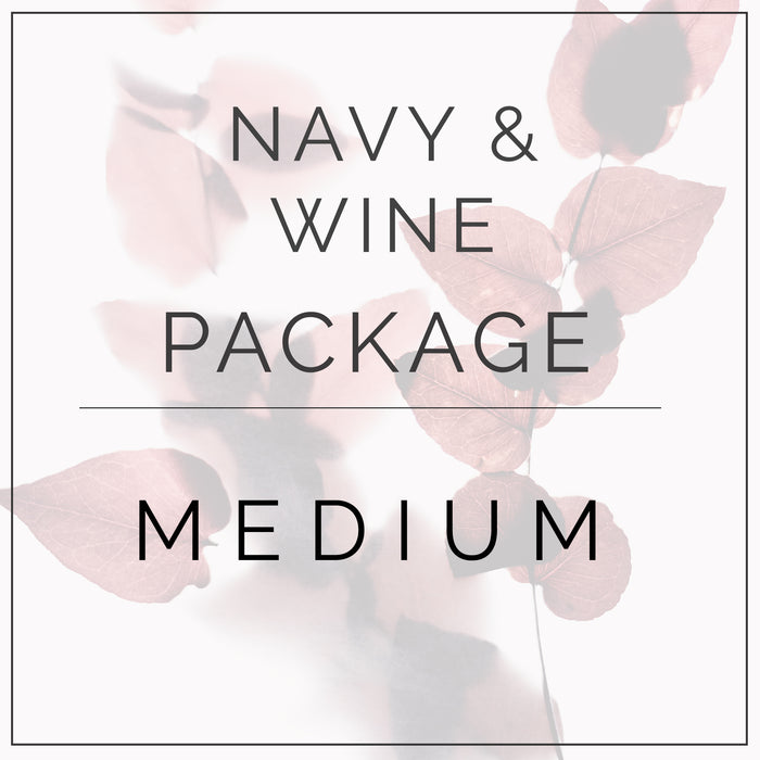 Navy and Wine - Medium Package