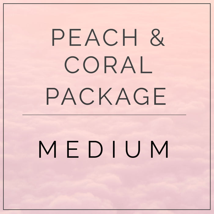 Peaches and Coral- Medium Package