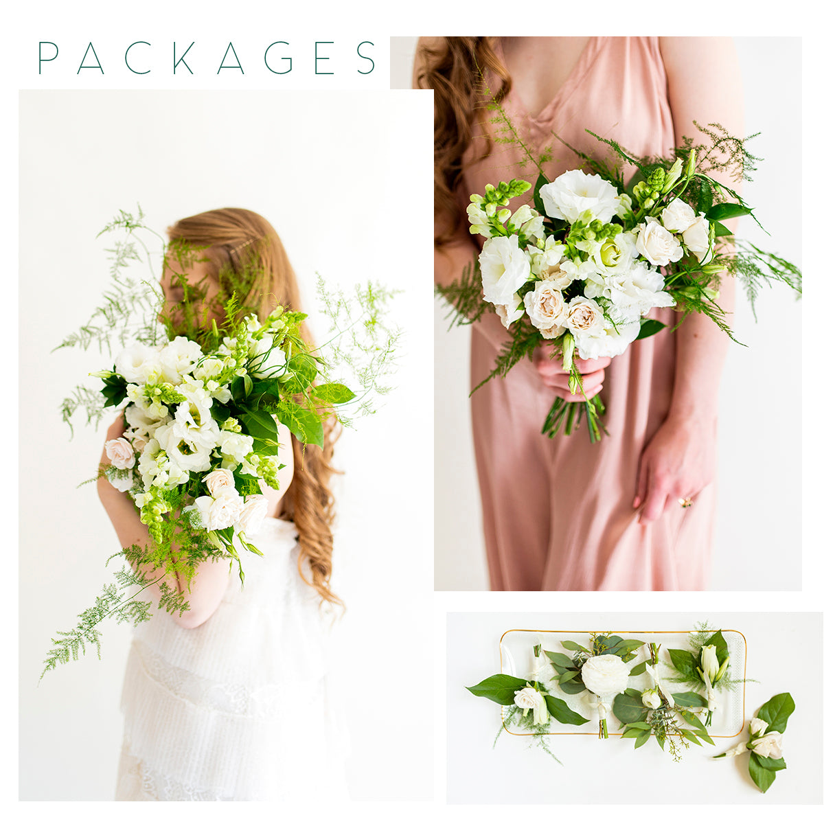 emerald whimsy package | diy wedding flower packages