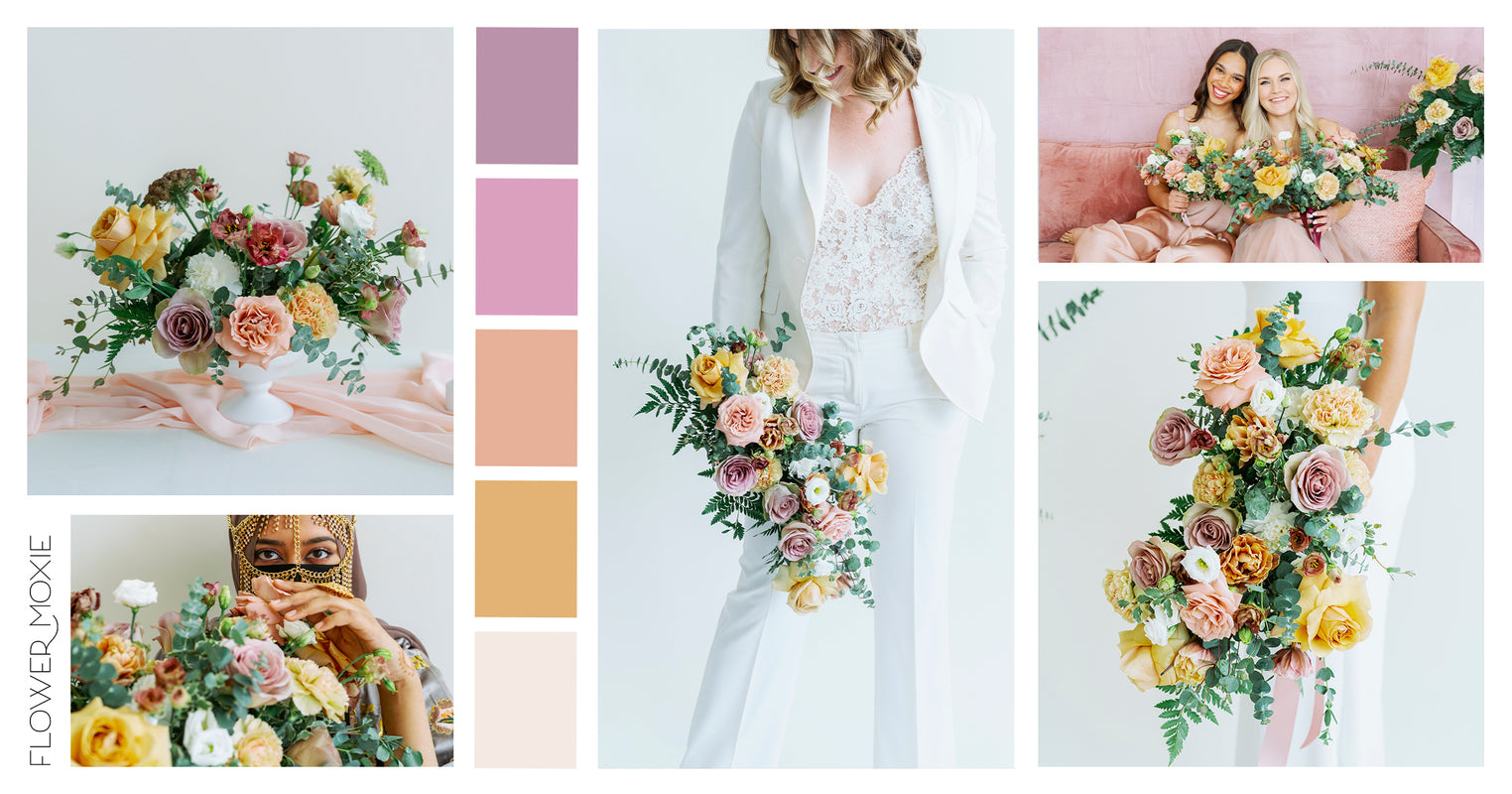 the golden hour diy wedding flower packages