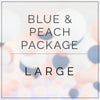 Peach and Blue- Large Package