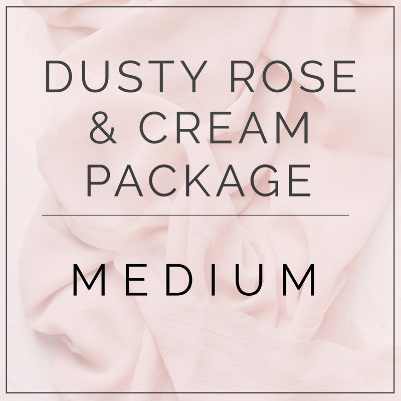 Dusty Rose and Cream- Medium Package