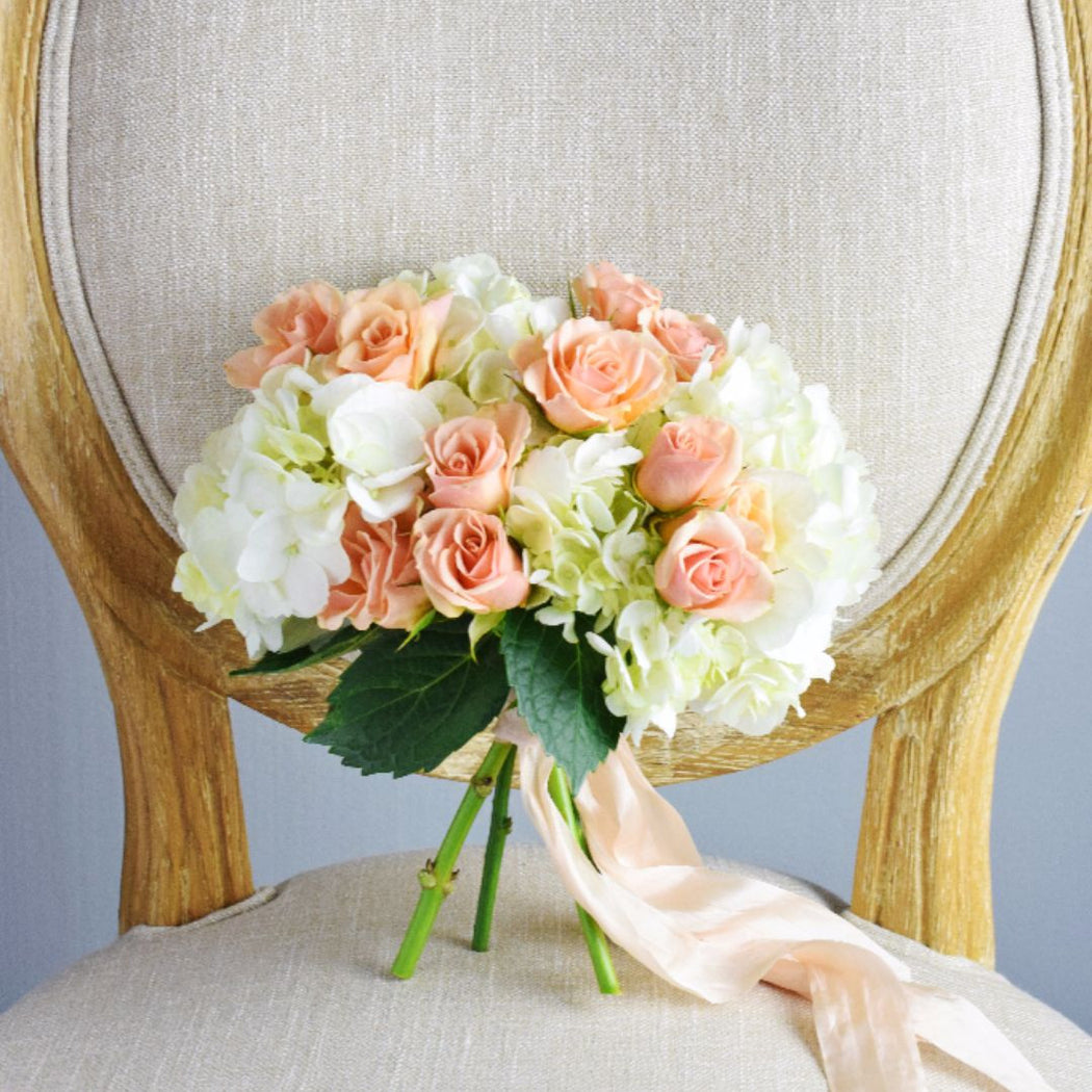 Peach Bridesmaid Bouquet - Makes 4