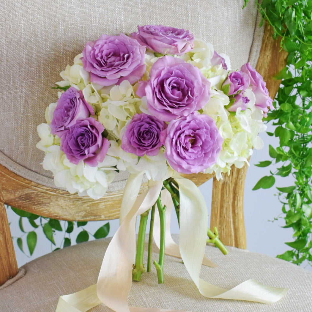 Purple Bridemaid Bouquet - Makes 4