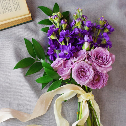 Organic Purple Bridesmaid Bouquet - Makes 4