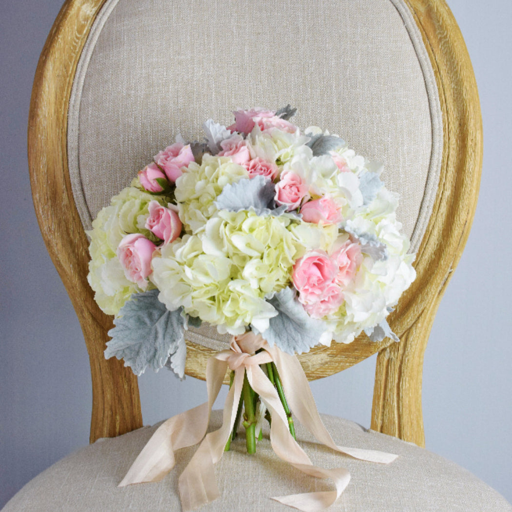 Blush Symmetrical Bridal Bouquet — Flower Moxie