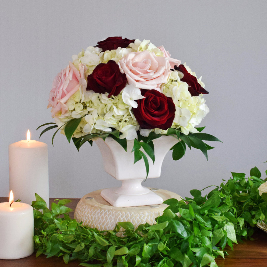Wine and Blush Centerpiece - Makes 6