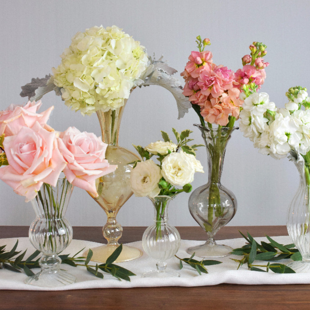 Blush bud vases makes — flower moxie