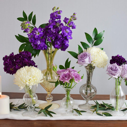 Purple Bud Vases or Mason Jar - Makes 30
