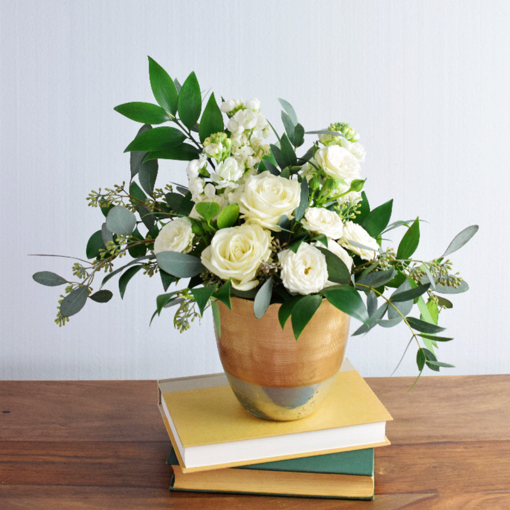 Organic White Centerpiece - Makes 4