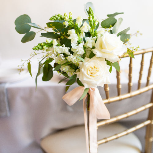 Chair Or Aisle Flowers Diy Wedding Flower Packages
