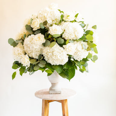 Wedding Altar Arrangement, Flower Moxie, Hydrangea Centerpiece, DIY Wedding Flowers