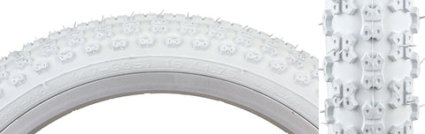 16X1.75  WHITE  MX KIDS BIKE TIRE