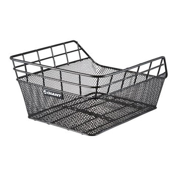 GIANT Bicycle Basket Rear Wire/Mesh Racktop Black 15x10.25x5