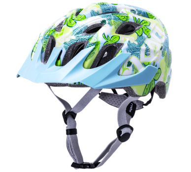 KALI CHAKRA YOUTH HELMET, FLORA green - YOUTH ONE SIZE