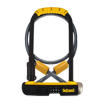 ONGUARD 8012C Combo DT U-Lock with 4' Cable