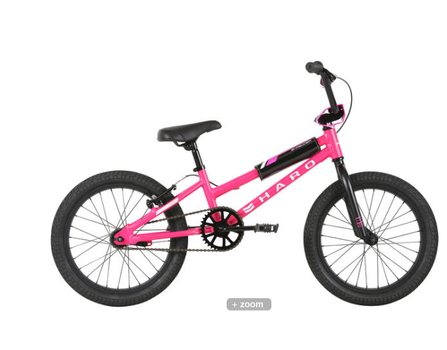 2021 Haro Shredder 18 Girls in Mat. Magenta