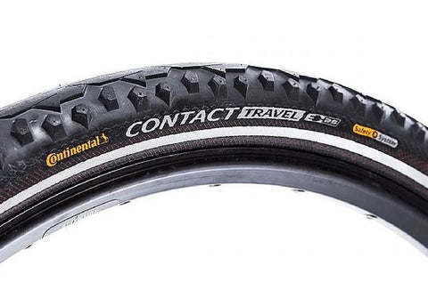 Continental Contact Travel Bike Tire - 26 X 2.0 BLACK/BLACK