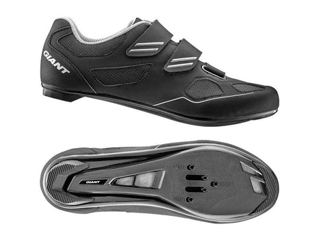 Giant Bolt Nylon SPD/SPD SL Road Shoe BLACK / SILVER Size: 47
