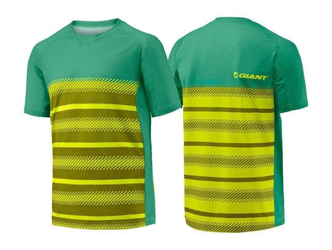 Giant Transcend Short Sleeve Jersey YELLOW / GREEN MEDIUM