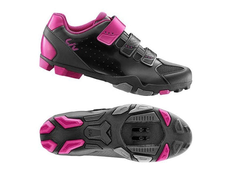 Giant Liv Fera Off-Road Shoe Nylon Sole BLACK / FUSCHIA 40