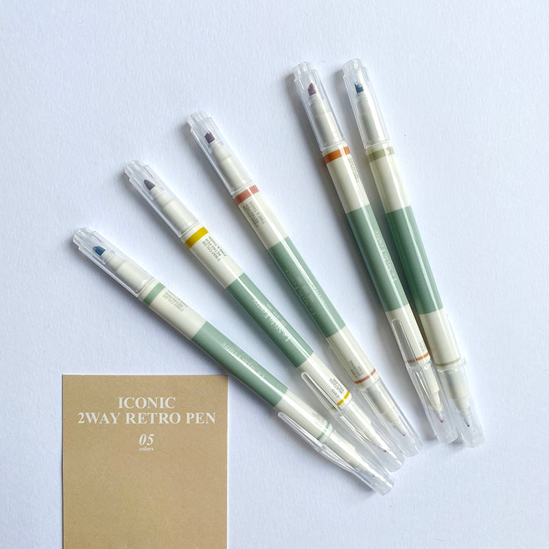 Iconic: 2 Way Retro Pen Set Iconic - Bon Tot