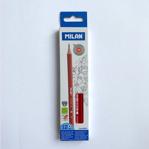 Milan: HB Graphite Pencil - 12 Pack Milan - Bon Tot