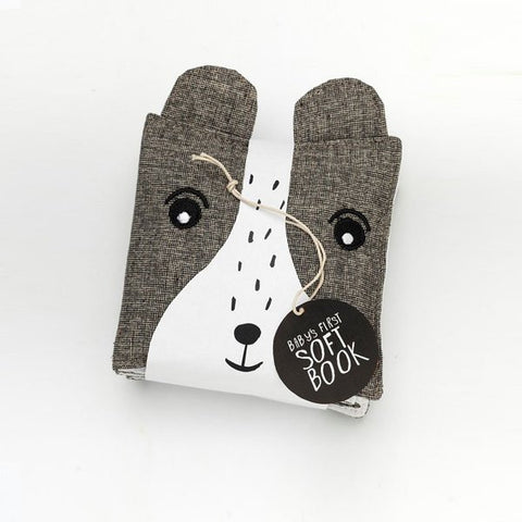 Wee Gallery: Organic Cotton Soft Cloth Book - Wild (Bear)