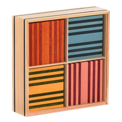 Kapla: Octocolour Case - 100 Wooden Planks Kapla - Bon Tot