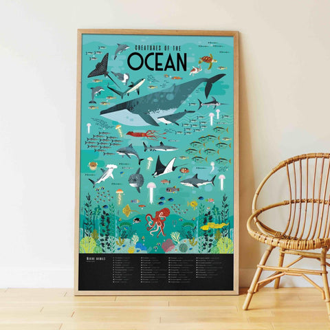 Poppik: Giant Poster - Animals of the Ocean