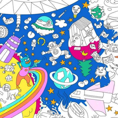 OMY: Cosmos Giant Colouring Poster