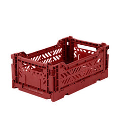 Folding Crate: Mini Stackable Crate - Tile Red Folding Crates - Bon Tot