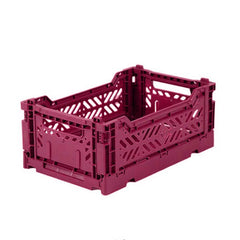 Folding Crate: Mini Stackable Crate - Chilli Red Folding Crates - Bon Tot