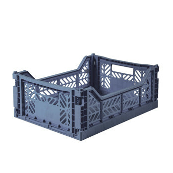Folding Crate: Midi Stackable Storage Crate -Cobalt Blue Folding Crates - Bon Tot