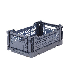 Folding Crate: Mini Stackable Crate - Cobalt Blue Folding Crates - Bon Tot