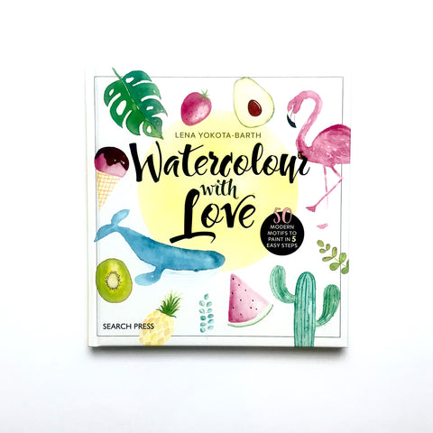 Craft Book: Watercolour With Love Craft Books - Bon Tot