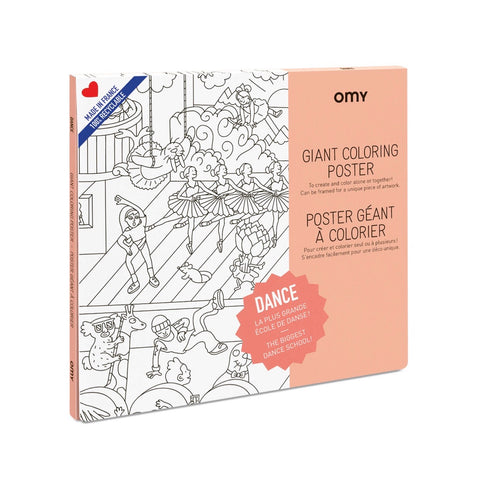 OMY: Dance Giant Colouring Poster OMY Colouring Prints - Bon Tot