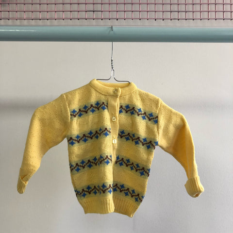 Bon Voyage: Vintage Cardigan Sweater size 1-2 years