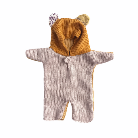 Bon Tot Apparel: Paola Reina Knitted Teddy Suit - Colour Block